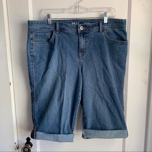 Style & Co. Size 14 Skimmer Jean Shorts Cuffed